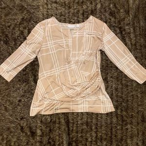 XL NY&CO beige striped blouse